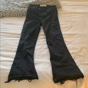 Reformation high waisted black flares
